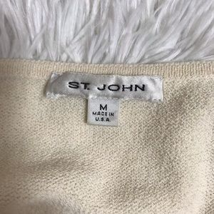 St. John Tops - St. John Cream Knit Crop Tank Top Thick Straps Med